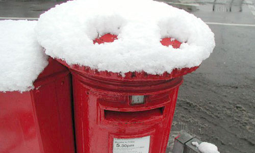 Postbox with a face